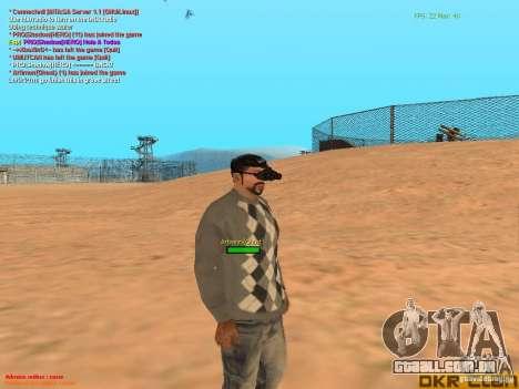 NV Goggles para GTA San Andreas quinto tela