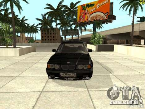 BMW E34 Alpina B10 Bi-Turbo para GTA San Andreas esquerda vista