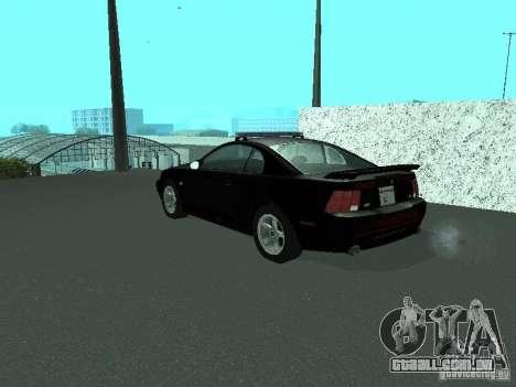 Ford Mustang GT Police para GTA San Andreas esquerda vista