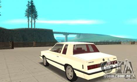 Dodge Aries 1983 para GTA San Andreas traseira esquerda vista