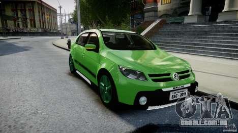 Volkswagen Gol Rallye 2012 v2.0 para GTA 4 vista de volta