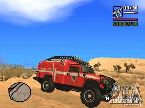 HZS Hummer H2 para GTA San Andreas esquerda vista