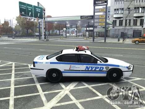 Chevrolet Impala NYCPD POLICE 2003 para GTA 4 vista direita