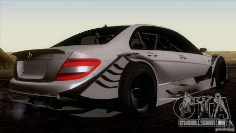Mercedes Benz C-Class Touring 2008 para GTA San Andreas traseira esquerda vista