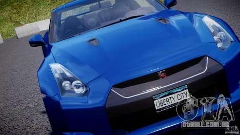 Nissan GT-R R35 2010 v1.3 para GTA 4 motor