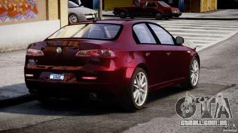 Alfa Romeo 159 Li para GTA 4 traseira esquerda vista