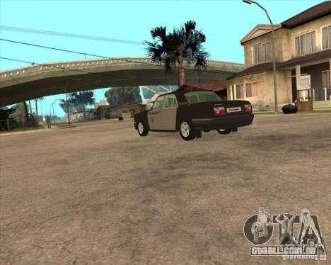 Durante a semana polícia de 3110 Volga GAZ para GTA San Andreas esquerda vista