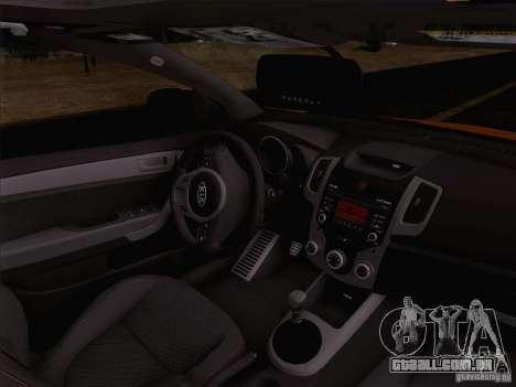 Kia Forte Koup SX para GTA San Andreas vista interior