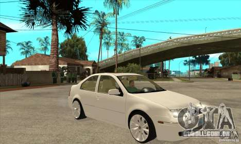 Volkswagen Bora VR6 4MOTION para GTA San Andreas vista traseira