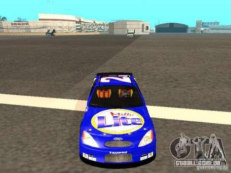 Ford Taurus Nascar LITE para GTA San Andreas vista traseira