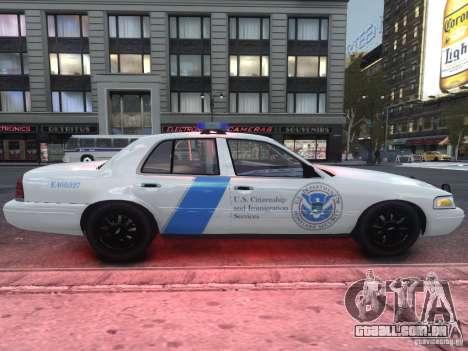 Ford Crown Victoria Homeland Security para GTA 4 vista de volta