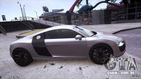 Audi R8 V10 para GTA 4 vista direita