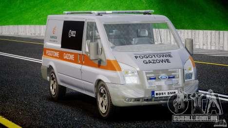 Ford Transit Usluga polski gazu [ELS] para GTA 4 vista direita