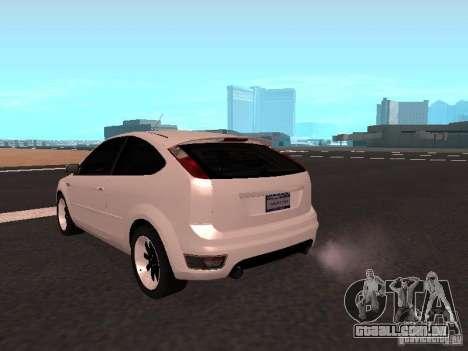 Ford Focus II para GTA San Andreas traseira esquerda vista