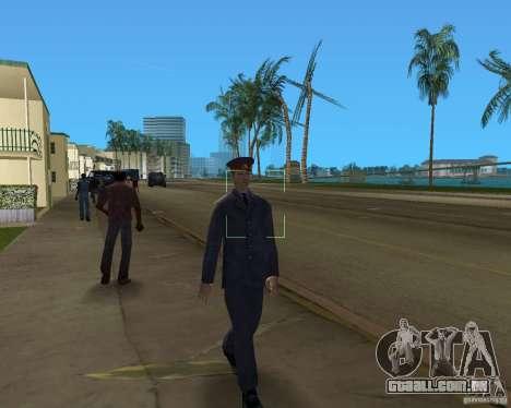POLICIAL russo para GTA Vice City por diante tela