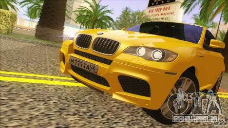 BMW X6M E71 v2 para GTA San Andreas traseira esquerda vista