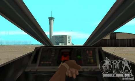 X-WING de Star Wars v1 para GTA San Andreas vista traseira