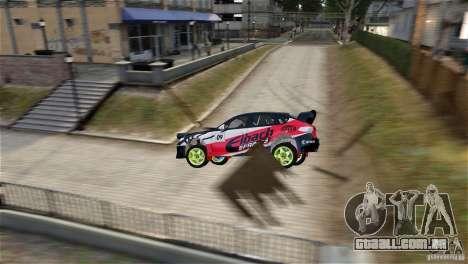 Subaru Impreza WRX STI Rallycross Eibach Springs para GTA 4 esquerda vista