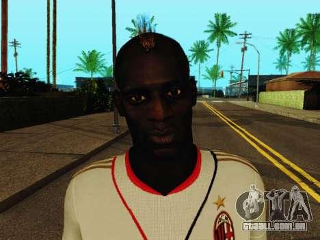 Mario Balotelli v2 para GTA San Andreas sexta tela