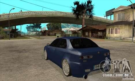 Alfa Romeo 156 Light Tune para GTA San Andreas traseira esquerda vista