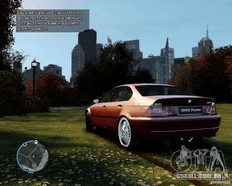 BMW 320i E46 v1.0 para GTA 4 vista direita