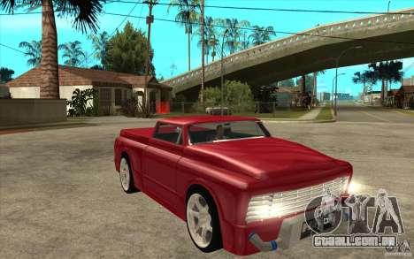Slamvan Custom para GTA San Andreas vista traseira