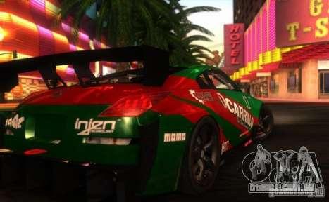 Nissan 350Z para GTA San Andreas esquerda vista