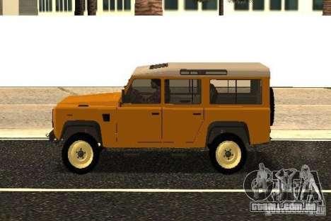 Land Rover Defender 110 para GTA San Andreas esquerda vista