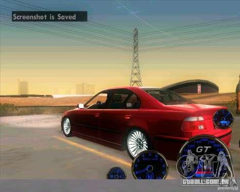 BMW E39 530d Sedan para GTA San Andreas traseira esquerda vista