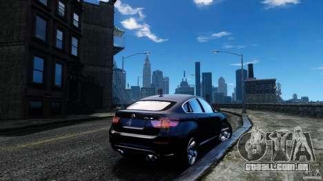BMW X6 2013 para GTA 4 traseira esquerda vista