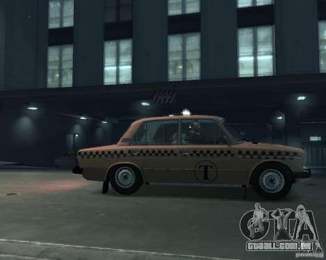 Táxi de 2106 VAZ para GTA 4 esquerda vista