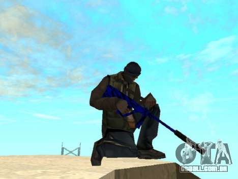 Blue and black gun pack para GTA San Andreas