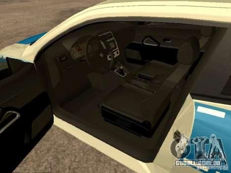 Volkswagen Scirocco German Police para GTA San Andreas traseira esquerda vista