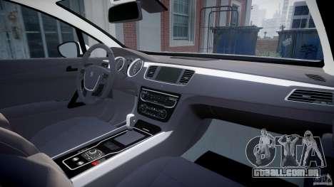 Peugeot 508 Macedonian Police [ELS] para GTA 4 vista direita
