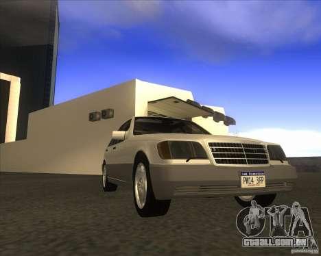 Mercedes Benz 400 SE W140 para GTA San Andreas traseira esquerda vista