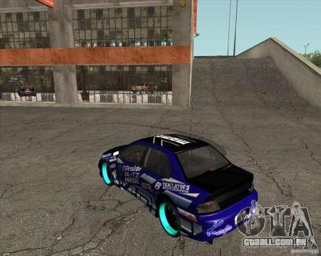 Mitsubishi Lancer Evolution 8 para GTA San Andreas esquerda vista