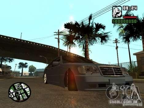 Mercedes-Benz S600 para GTA San Andreas vista traseira