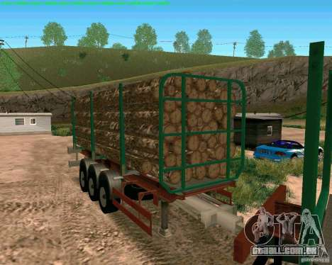 Trailer de Kamaz 65117 para GTA San Andreas traseira esquerda vista