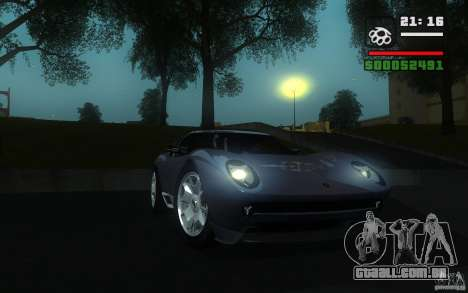 Lamborghini Miura Concept para GTA San Andreas esquerda vista