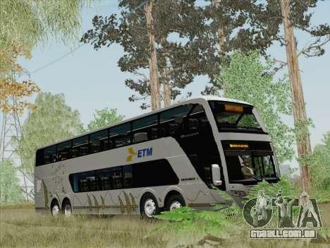 Busscar Panoramico DD 8x2 para GTA San Andreas interior