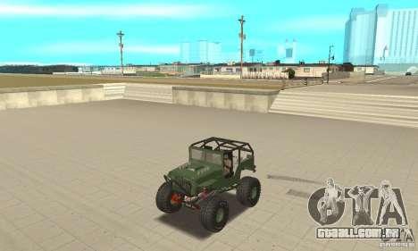 Jeep Willys Rock Crawler para GTA San Andreas vista direita