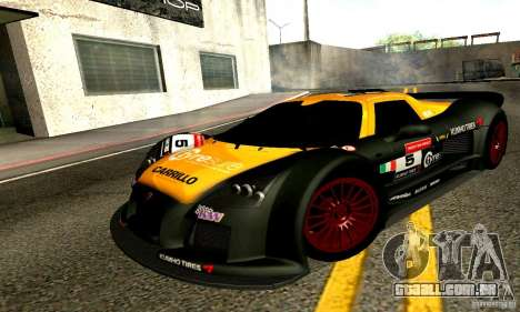 Gumpert Apollo para GTA San Andreas vista inferior