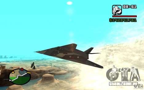Lockheed F-117A Nighthawk para GTA San Andreas