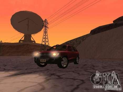 Hyundai Santa Fe Classic para GTA San Andreas vista traseira