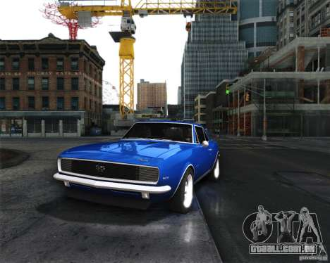 Chevrolet Camaro 1969 para GTA San Andreas traseira esquerda vista
