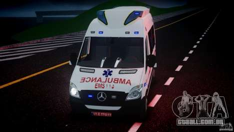 Mercedes-Benz Sprinter Iranian Ambulance [ELS] para GTA 4 vista inferior