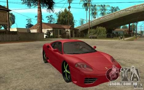 Ferrari 360 Modena para GTA San Andreas vista traseira