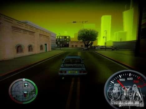 Velocímetro por Centrale v2 para GTA San Andreas terceira tela