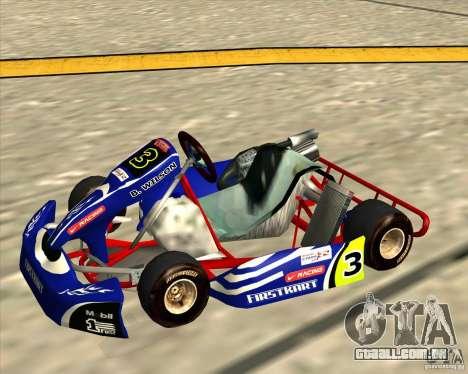 Shifter kart Honda CR 125 para GTA San Andreas traseira esquerda vista