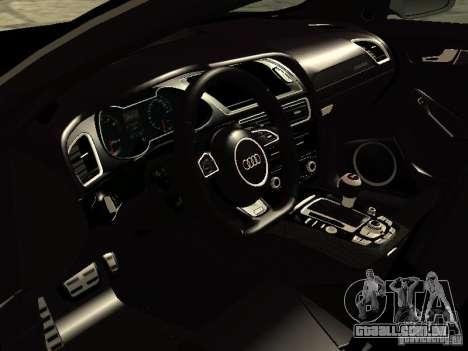 Audi RS4 Avant B8 2013 para GTA San Andreas traseira esquerda vista